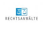 Zeichen, Signet, Logo, Rechtsanwalt, Waage