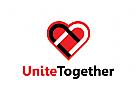 Gruppe, Gewerkschaft, Herz, Stopp Rassismus