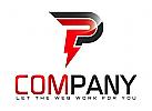 Strom Elektriker Bau Handwerk Logo