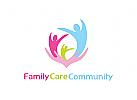 Logo, Pflege, Familie, Gesundheit, Mutter, Kind, Vater, H�nde, Betreuung