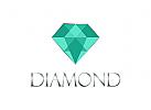Logo, Diamant, Smaragd, Schmuck, Juweliere, Reichtum, Ansehen, Mode