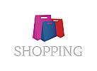 Logo, einkauf, geschäft, online, internet, Warenkörbe
