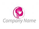 Zeichen, Zeichnung, Symbol, Logo, Haare, Frisör, Frau
