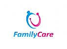 Logo, Menschen, Familie, Pflege, Einheit, Freundschaft, Malerei, Schlaganfall, Liebe, Frieden