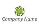 Öko, Natur, Kugel, Kreis in grün Logo