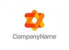 rot, stern, Energie, Software, Anwendung, Netzwerk, Logo
