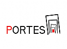 Logo, Tür, entrer, Mode, Kunst, Musik, Nachtclub, schwarz, rot, Avantgarde