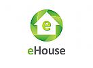 Öko, Zeichen, Signet, Logo, Haus, Energie, Öko