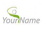 Öko, Zeichen, Zeichnung, Symbol, Person, Bewegung, Fitness, Sport, Logo