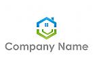 Ökologie, Zeichen, Skizze, Haus, Immobilien, Logo