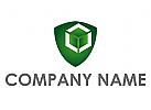 Öko, Wappen, Cube, Würfel, Technologie, Logo