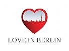 Logo, Berlin, liebe, herz, Flirt, Dating, Online, Beziehung, Familie, Pflege