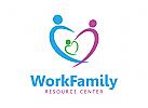 Logo, Ressource, Familien, Familien, Pflege, Respekt, Gruppe, Menschen, Sozialisation