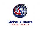Logo, welt, erde, Transport, Logistik, Meer, Globus, Export, Import