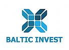Investments, Verkehr, Industrie, baltisch, Blau, Norden, Shop, Platte, Block,Logo