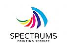Logo, Spektrum, bunt, Kopie, Druck, Büro, Fotos, Medien
