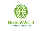Logo ökologie, grün, natur, erhaltung, Recycling