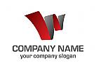 Logo, Buchstaben W, Symbol, Software, Medien, initialen, rot, grau