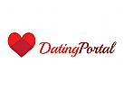 Logo, liebe, herz, dating