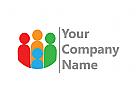 Menschen, Gruppen, Kommunikation, Gewerkschaft, Organisation, Einheit, helfen Logo