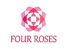 Rose, Duft, Parf�m, Schmuck Logo