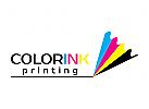 gedruckt, Farbe, Drucker, Stift, Schreiben, cmyk Logo