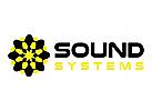 Sound-Systeme, Musik, dunkel, DJ Logo