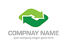ökologie, grün, Pfeil Logo