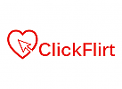 Flirten, Treffen, Dating, Liebe, Herz, Klick Logo