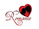 Romantik, Liebe, Herz, Paar, Treffen, Dating Logo
