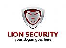 Löwe, Schild, Sicherheit, Logo