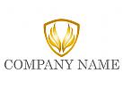 Wappen mit Flügeln Logo