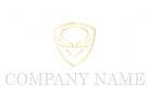 Wappen mit Flügeln in Gold Logo