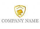Wappen und Löwe Logo