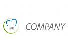 Zähne, Zahnimplantat Logo
