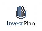Investitionen, Geld, Bank, Finanzgesellschaft, Management, Bau, Logo