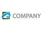 Ökologisch, Zeichen, Zeichnung, Haus, Fenster, Immobilien, Logo