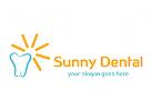 Zahn, Zahnarzt, Zahnarzt, Sonne, Kinder-Zahnarzt, Klinik, Arzt, Zahnersatz, Logo