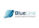 Transport, Logistik, Transport, Welt, blau, kugel, erde, Schiff, Bahn, Flugzeug, LKW, Logo