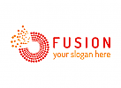 Fusion, digital, Kommunikation, Technologie, Software, Jobs, Gewerkschaft, Logo