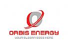 Orbit, Strom, Energie, Leistung, Technologie, App, Software, Symbol, Strom, Logo