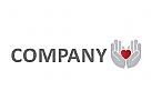 Zeichen, Signet, Logo, Hand und Herz