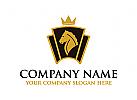 Pferd, Pferdefarm, ranch, Hippodrom, Tierarzt, Macht, Mähne, schwarzes, stallion, Logo