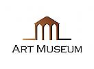 Museum, Kunst, Wissenschaft, Schule, Geb�ude, Wissen, Logo