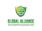 Welt, land, natur, Ball, schild, ökologie, recyceln sie, umwelt, ngo, Logo