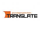 �bersetzung, �bersetzer, Dolmetscher, Schule, Lernen, Sprache, polyglotte, W�rterbuch, Person, Kopf, Geist, Logo