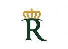 Krone, könig, königlich, Buchstabe R, gold, Hotel, Macht, Prestige, Restaurant, Logo