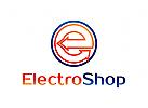 Strom, Energie, Installation, Spannung, Glühbirnen, Buchstabe E, Logo