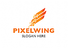 ö,Zeichen, Signet, Logo, Flügel, Pixel, IT