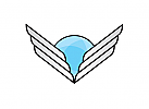 Zeichen, Signet, Logo, Flügel, Kugel / Erde